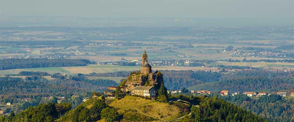 Le rocher de Dabo au Pays de Sarrebourg en Moselle