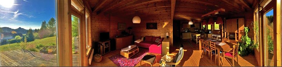 Espace à vivre au gite Séquoia - Nid de la Bergeronnette