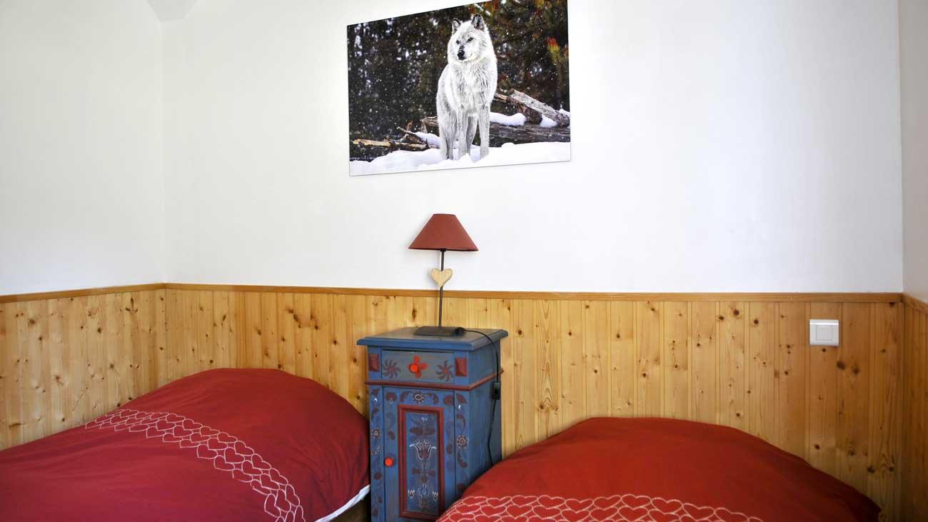 Chambre loup - Cabane du trappeur
